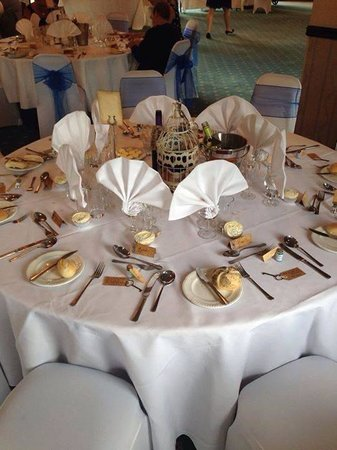 A few tables setup before the event - Picture of Peterstone Lakes ...