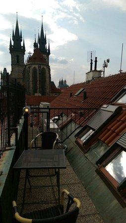 Metamorphis Excellent : Вид с террасы 841 номера
