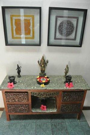 Decoration at the massage room corridor - Picture of Bali Botanica ...