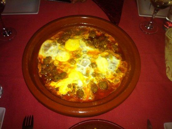Riad Laila: Repas (Kefta aux Oeufs)