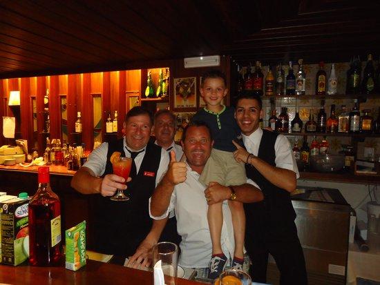 Hotel Talayot: The bar staff :-D