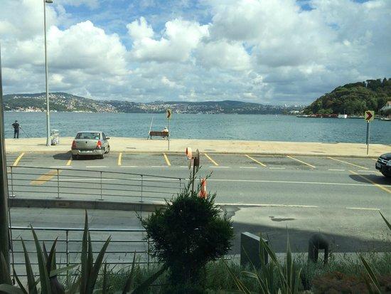 The Grand Tarabya : Bosphorus view from the hotel lobby