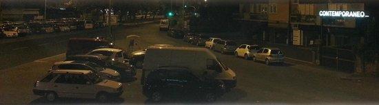 Hotel La Pergola: view from btwn slats on hotel window