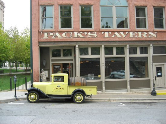 Pack's Tavern: View from the Police Station and Fire House
