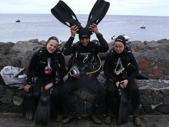 Atlantis Diving Lanzarote : Lauren, Ivo & Alanna