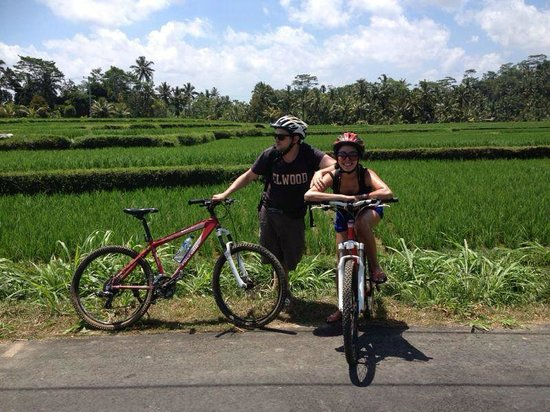 Sobek Bali - Private Tours: cycling through the paddy fields