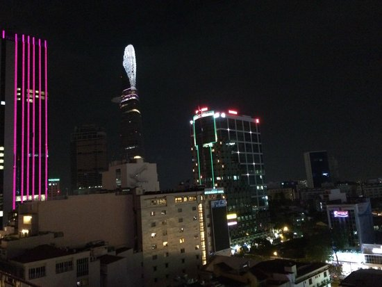 Grand Hotel Saigon: view from a rooftop