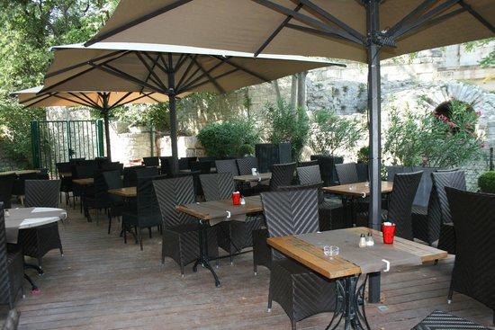 Terrasse Au Pied Du Temple De Diane Picture Of Les Tables De La