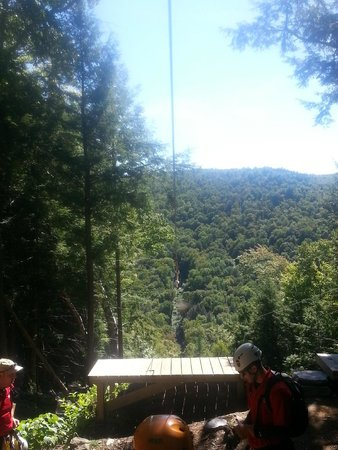 Berkshire East Canopy Tours: The view from X1