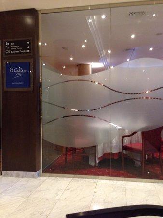 HCC St. Moritz: レストラン入り口