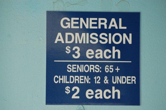 Camera Obscura : admission price
