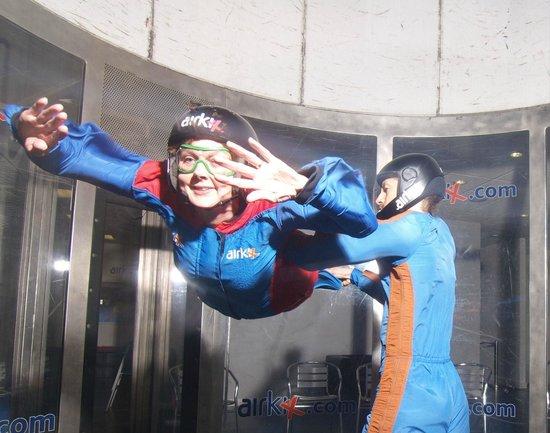 Airkix Indoor Skydiving Manchester: Mrs APB at Airkix Manchester