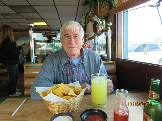 Jose's Authentic Mexican Restaurant: Think before you order the large Margarita!!