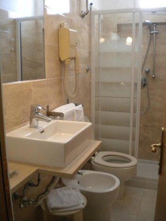 Hotel Touring Pisa: bagno piccolo ma carino  e pulito :)