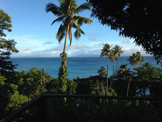 Maravu Taveuni Lodge : view from bure balcony