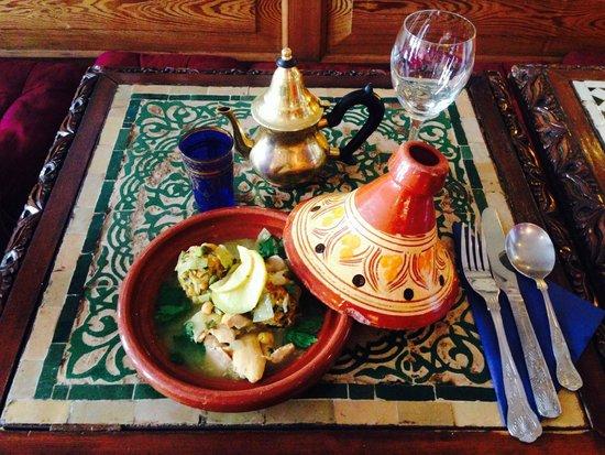 The Blue Man: Chicken Sferia with Algerian dumplings