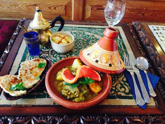 The Blue Man: Slow cooked goat tagine, mother's style