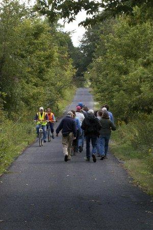 Oak Openings Preserve: Walking one of the main trails.