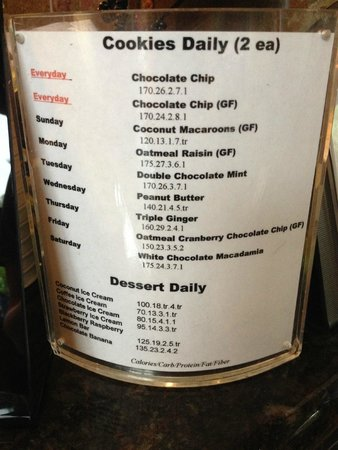 Canyon Ranch in Tucson: Yummmm - daily cookie menu