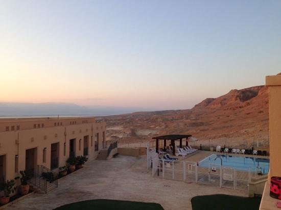 The Masada Hostel: view from our room
