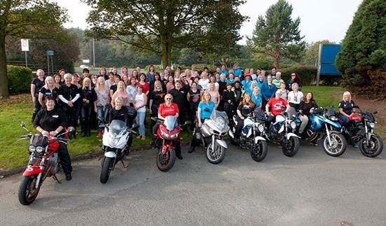 King Malcolm Hotel: our group, Curvy Riders MCC in the King Malcolm grounds