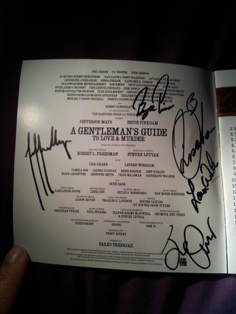 A Gentleman's Guide to Love & Murder: signed album