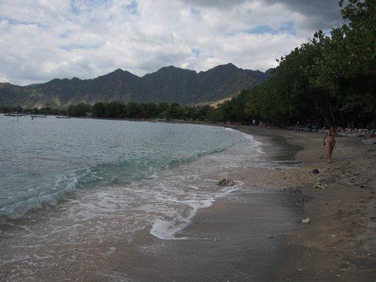 Pondok Sari Beach Bungalow Resort & Spa : the beach perfect for snorkelling