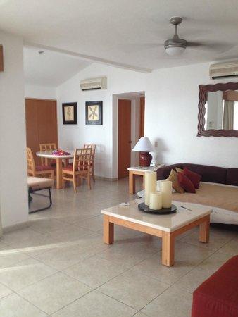 Living Room Of The 2 Bedroom Suite Picture Of Marival Resort Suites Nuevo Vallarta