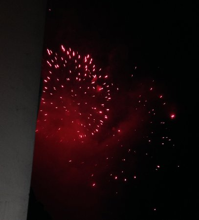 Hotel Hofbalzers: Fireworks on National Day
