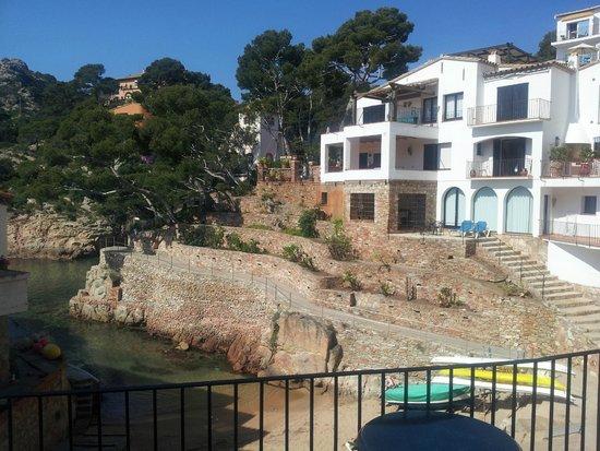 "Hotel Aiguablava: vue du balcon de la chambre dite ""vue sur mer"""