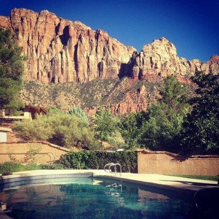 Canyon Ranch Motel: View from my seat at the pool