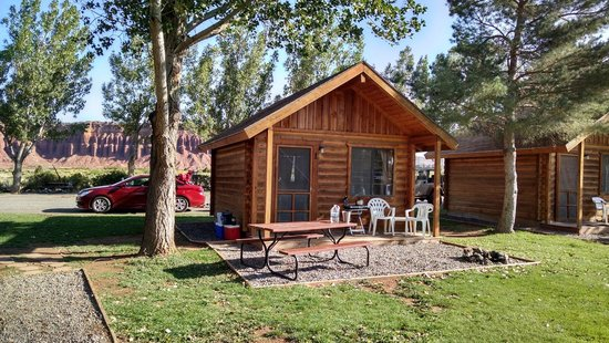 Thousand Lakes RV Park & Campground: Cabin 1, our home away from home