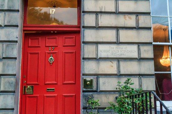 The Stevenson House : Red entrance door