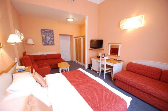 Hotel Julian: Vue de la chambre vers le vestibule et la salle d'eau