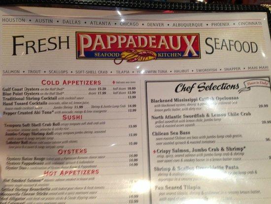 pappadeaux: great selections!