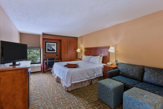 Hampton Inn Hendersonville: Our King Study room offers extra seating or sleeping via a sofabed.