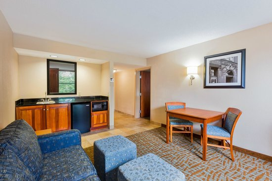 Hampton Inn Hendersonville: Our King Suite includes an in-room table, wet bar, and sleeper sofa.