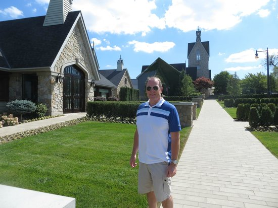 Vineland Estates Winery Restaurant: My husband just outside