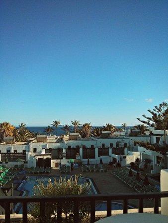Club Oceano: View from room looking toward beach.