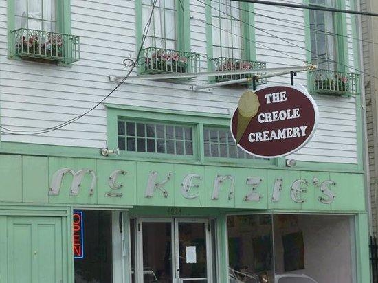Creole Creamery: Quaint sign