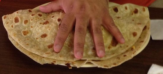 Manuel's: Con todo - needed 2 man hands to handle!
