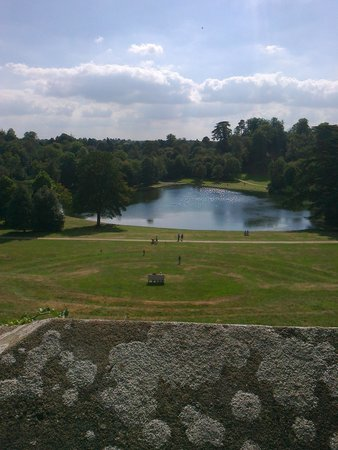 Claremont Landscape Garden: View of lake from amphitheatre