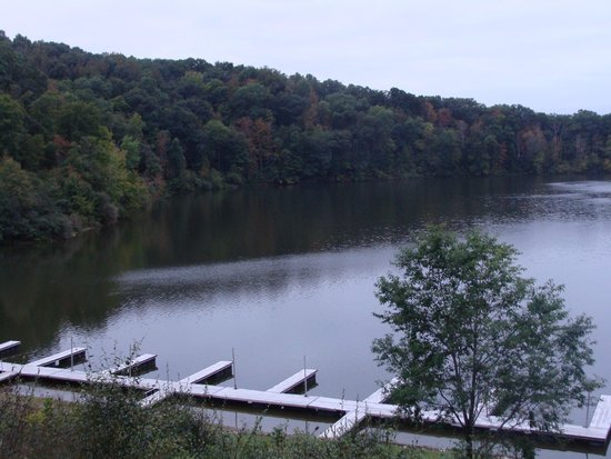 Burr Oak Lodge and Conference Center: The view from our Patio Room