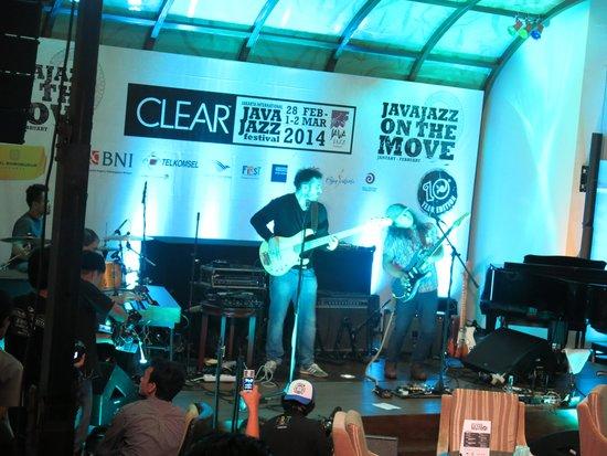 Jazz festival promo show in the hotel