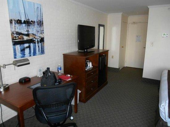 Best Western Adams Inn Quincy-Boston: TV und Kühlschrank
