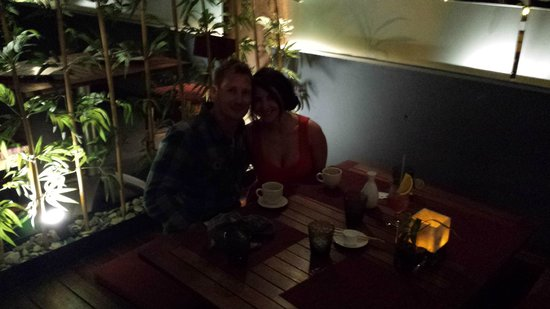 Now Amber Puerto Vallarta: Asian restaurant, awesome tables!