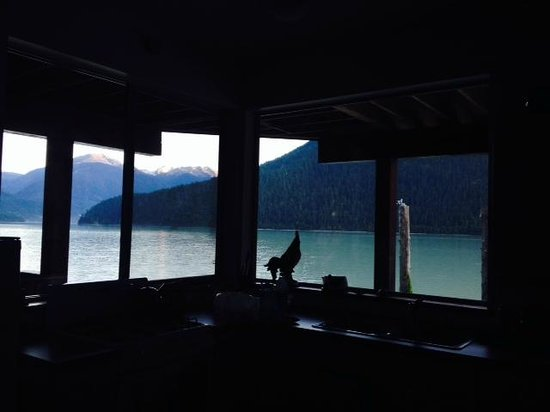 The Cottage B&B on Lillooet Lake: View from kitchen