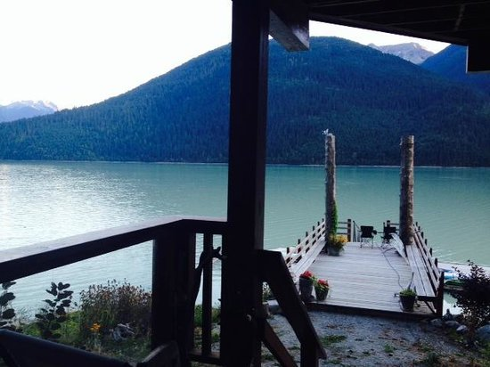 The Cottage B&B on Lillooet Lake: View from lower deck