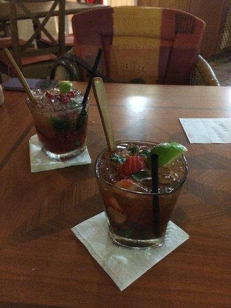 Churchills Tapas Bar : Mojito fraise & framboise :-)