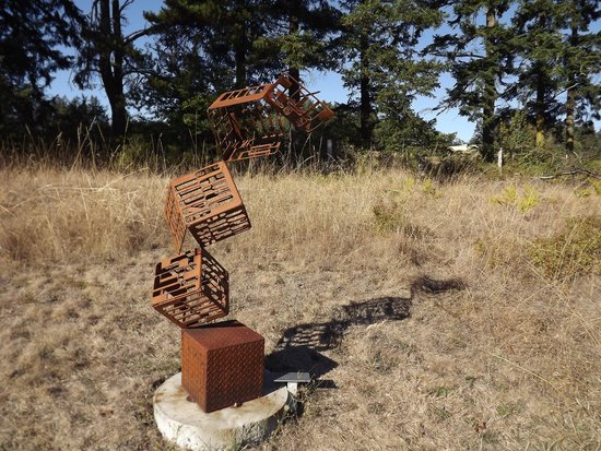 "San Juan Islands Sculpture Park: ""Chaos from Order, Order from Chaos"" by Lance Carleton"